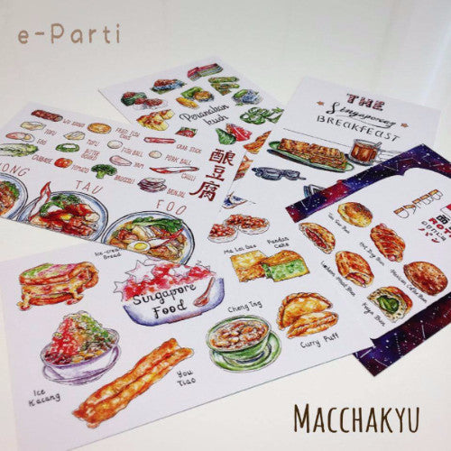 【SUMMER SALE】<br>Post Card 5cards set (food)