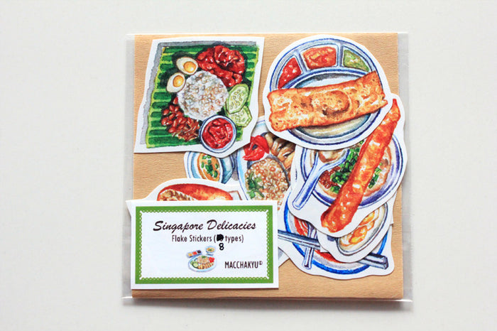 【SUMMER SALE】<br>SINGAPORE DELICACIES STICKERS (8PCS)