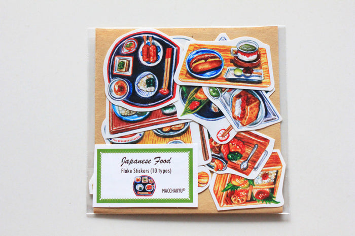 【SUMMER SALE】<br>JAPANESE FOOD STICKERS (10PCS)