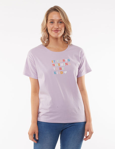 ELM BE KIND TEE - LILAC