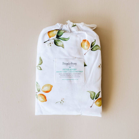 SNUGGLE HUNNY LEMON BASSINET SHEET/CHANGE PAD COVER