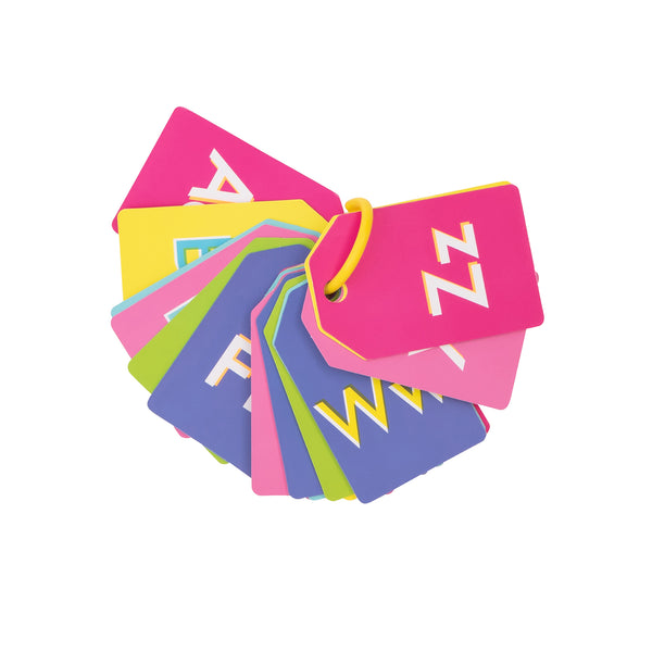 NEON ALPHABET FLASH CARDS