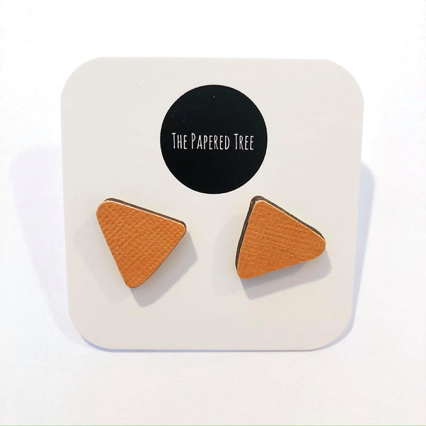 THE PAPERED TREE ORGANIC COLLECTION TRIANGLE STUDS