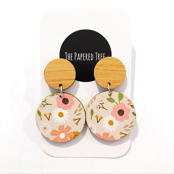 THE PAPERED TREE CIRCLE DROP EARRINGS 30MM