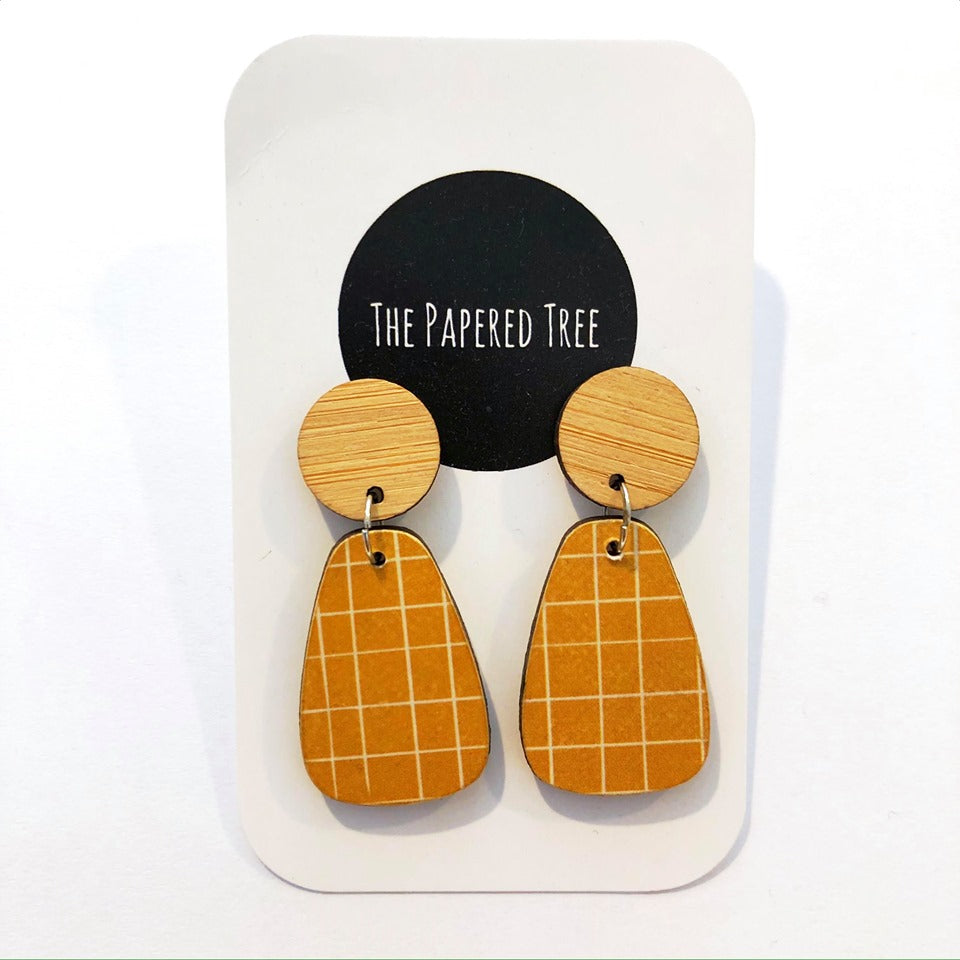 THE PAPERED TREE CURVY DROP EARRINGS 30MM