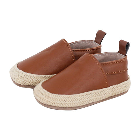 PRE - WALKER LEATHER ESPADRILLES - TAN