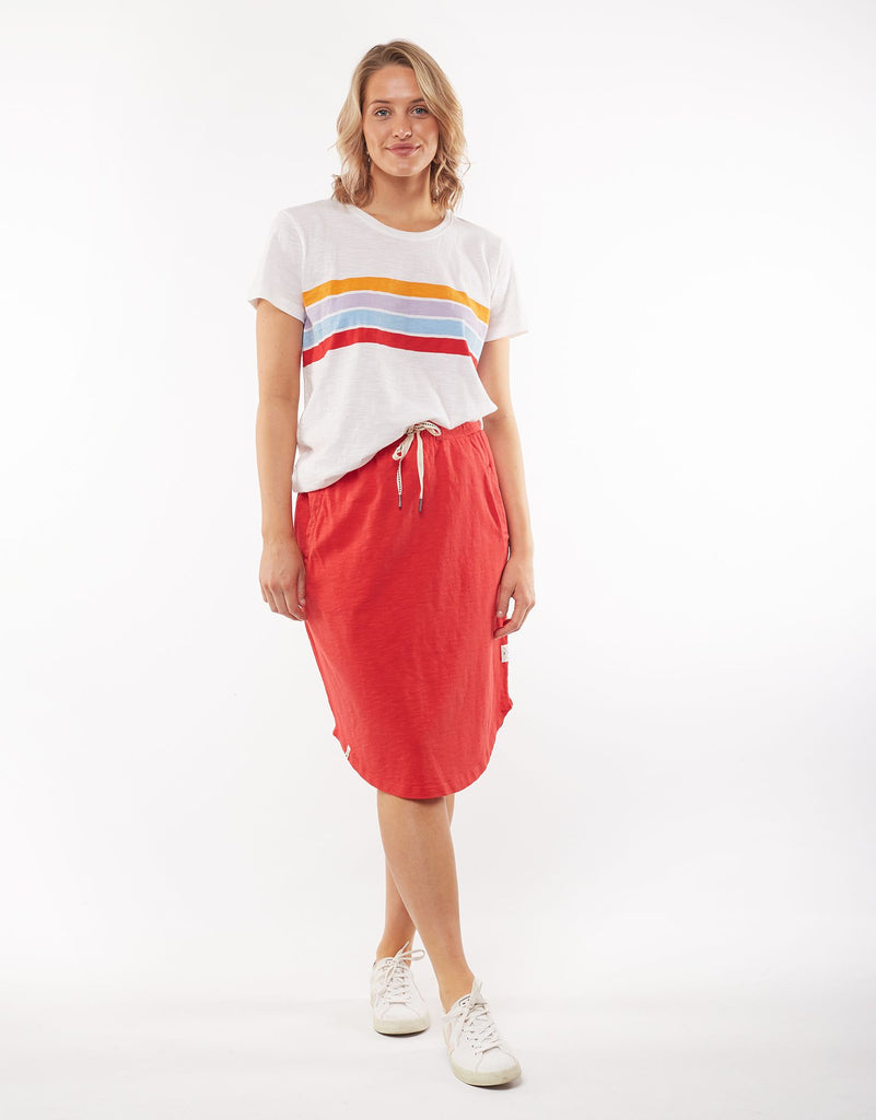 ELM FUNDAMENTAL ISLA SKIRT - POPPY RED
