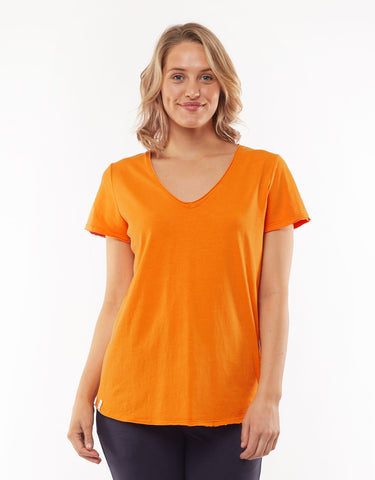 ELM FUNDAMENTAL VEE TEE ORANGE
