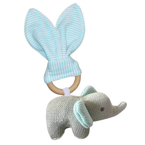 ELEPHANT WOODEN TEETHER SET