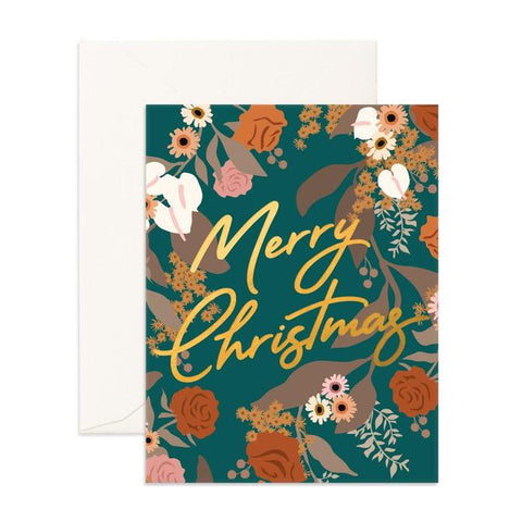 CHRISTMAS GARDEN GREETING CARD