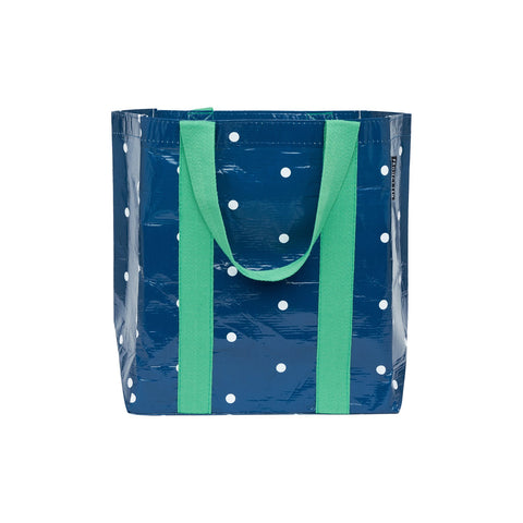 NAVY MICRO DOT SHOPPER