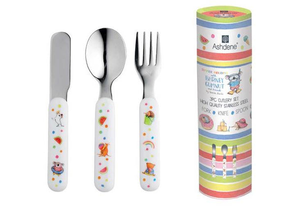 SUMMER WITH BARNEY 3 PIECE CUTLERY SET