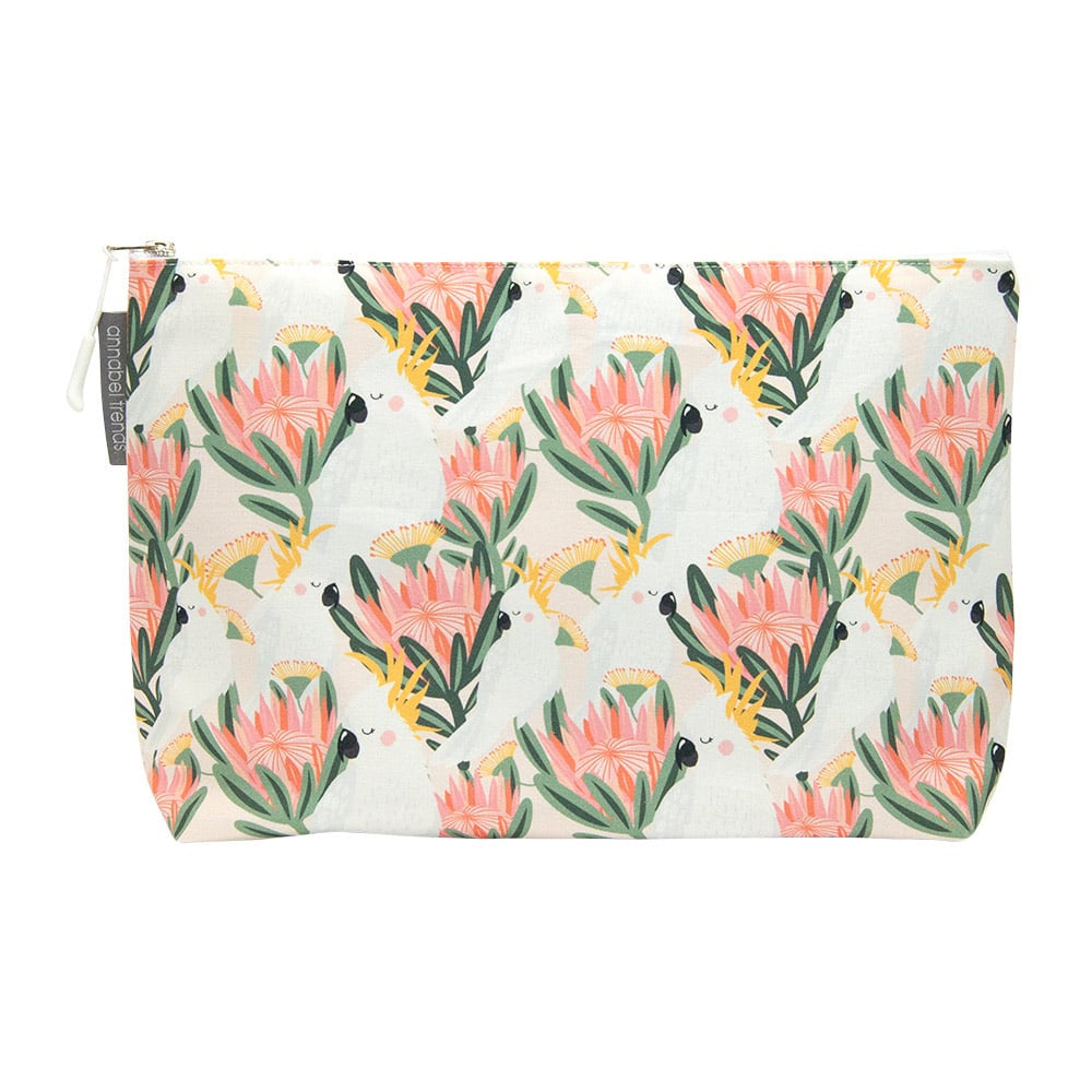 COCKATOO PEACH COSMETIC BAG - LARGE