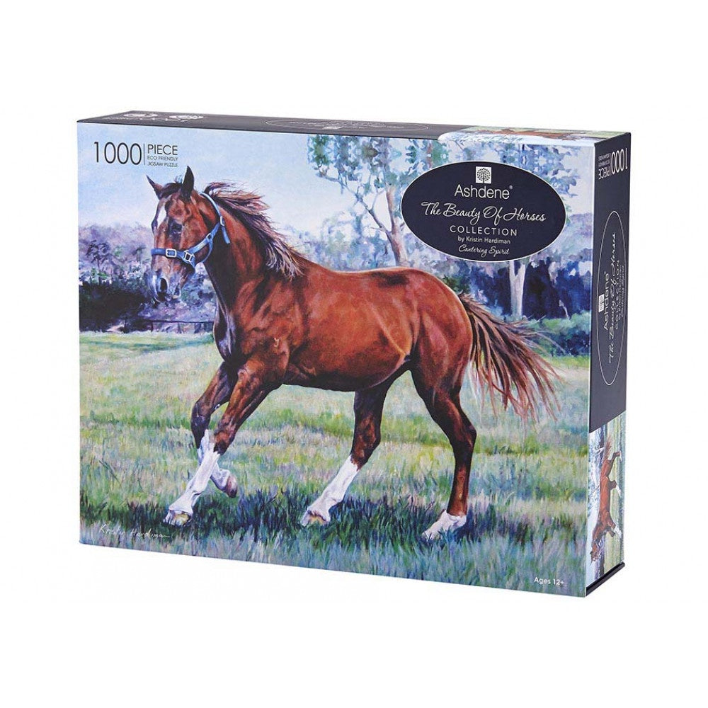 BEAUTY OF HORSES CANTERING 1000 PIECE PUZZLE