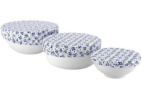 LADELLE MARBELLA TILE BOWL COVERS - 3PK