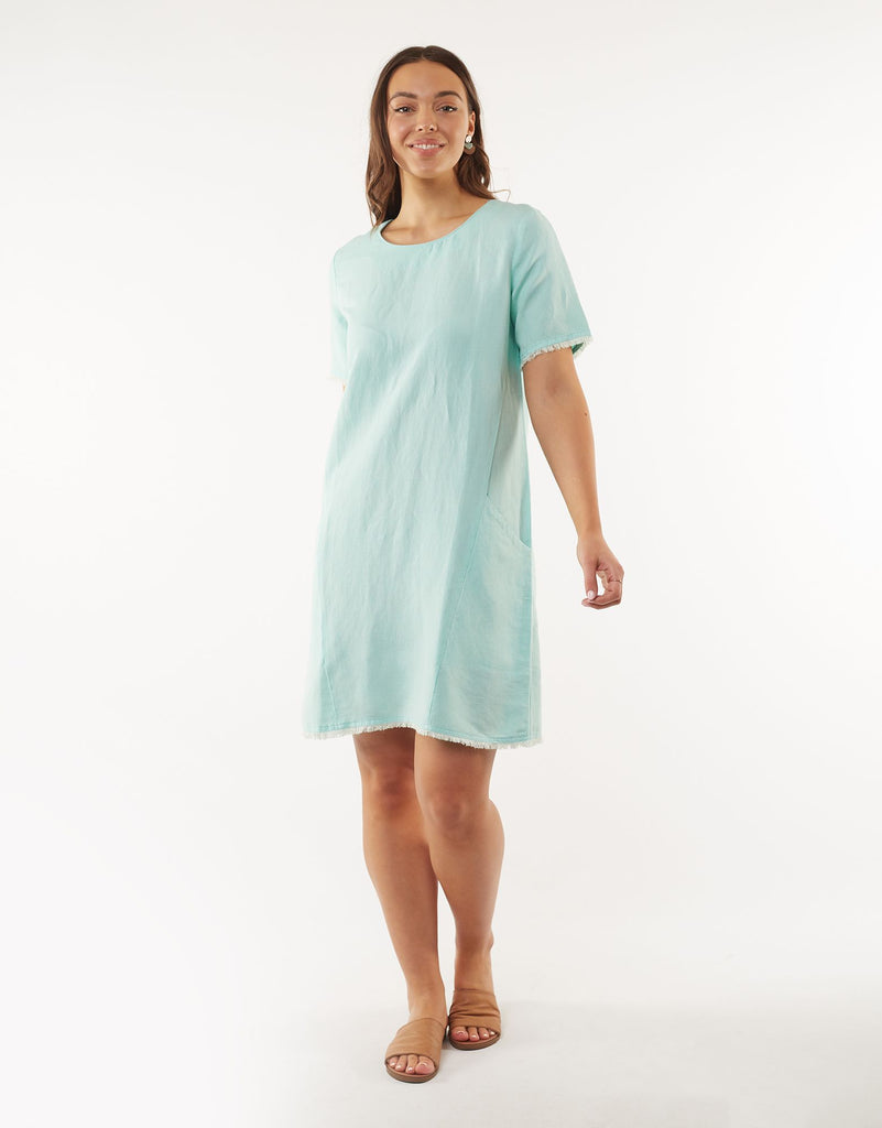 ELM MISTY FRAY DRESS - MINT