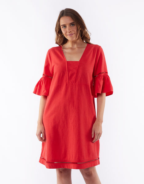 ELM ELENA DRESS - POPPY RED