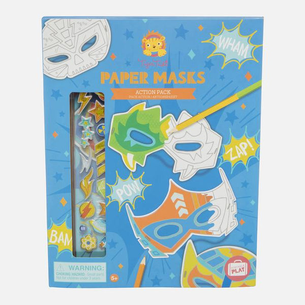TIGER TRIBE PAPER MASKS - ACTION PACK