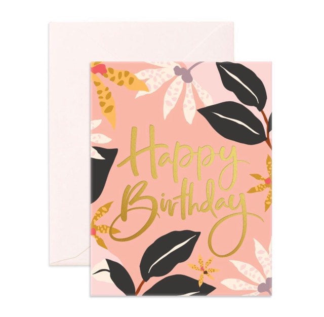 BIRTHDAY ORCHIDS CARD