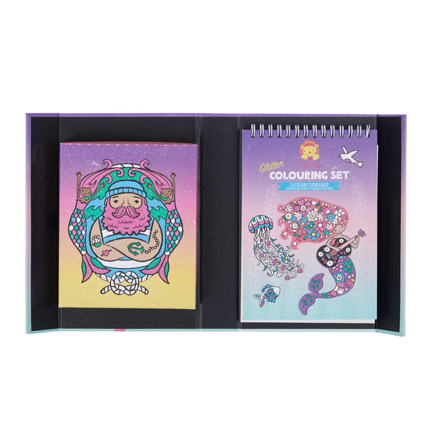 OCEAN DREAMS GLITTER COLOURING SET