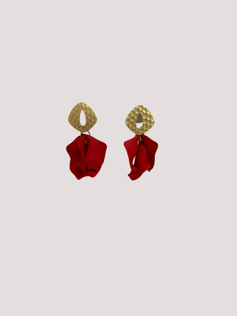 DIBORA ISABELLA EARRINGS ROUGE
