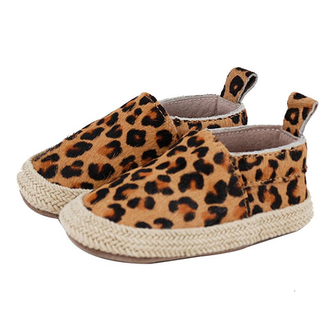 PRE - WALKER LEATHER ESPADRILLES - LEOPARD