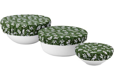LADELLE GREEN LEAF BOWL COVERS - 3PK