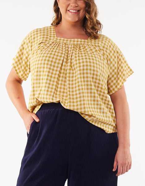 ELM SUNSHINE GINGHAM TOP