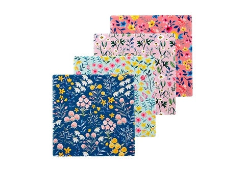 FLOWERING FIELDS CERAMIC COASTER 4PK
