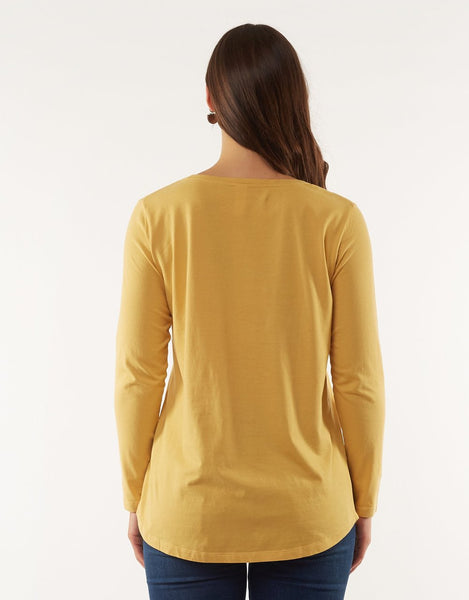 ELM DEVOTION TEE MUSTARD