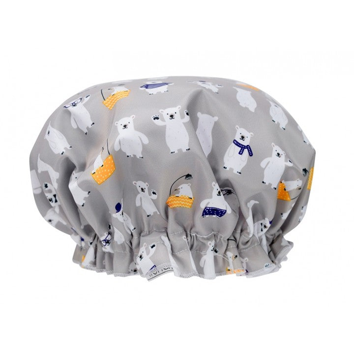 Bathing Bear Shower Cap