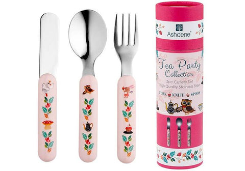 TEA PARTY 3 PIECE CUTLERY SET