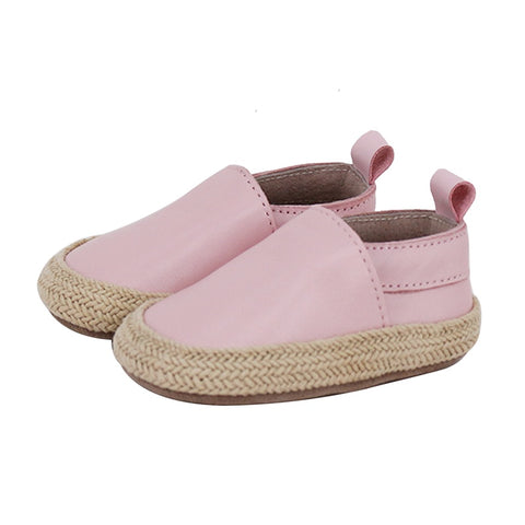 PRE - WALKER LEATHER ESPADRILLES - PINK