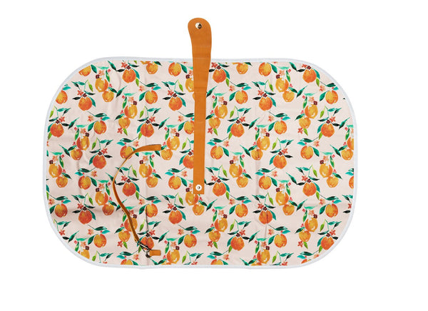 TRAVEL BABY CHANGE MAT - ORANGE BLOSSOM