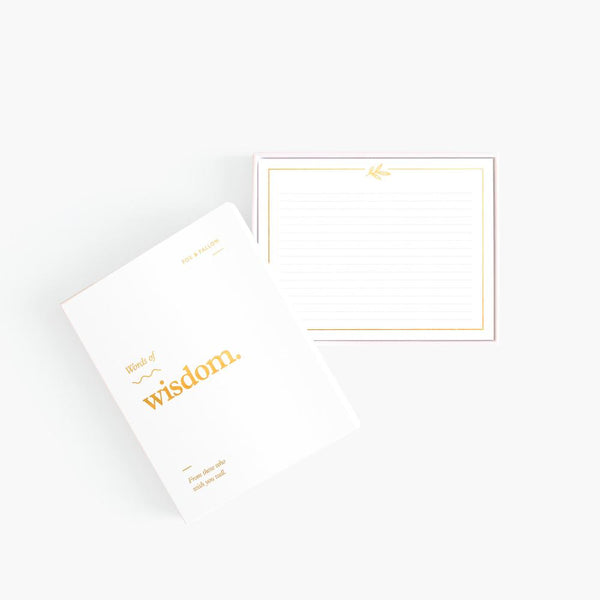 Words Of Wisdom Blank Note Cards