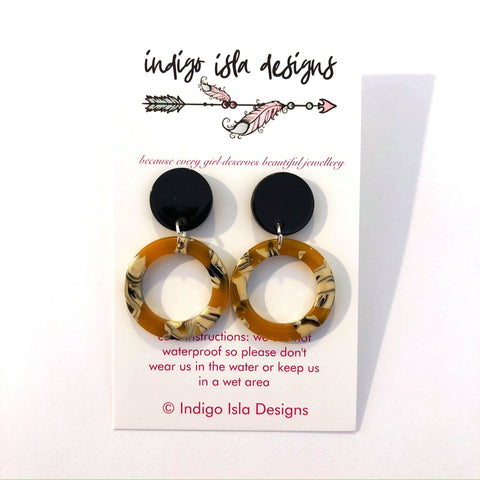 INDIGO ISLA CIRCLE HOOP EARRINGS