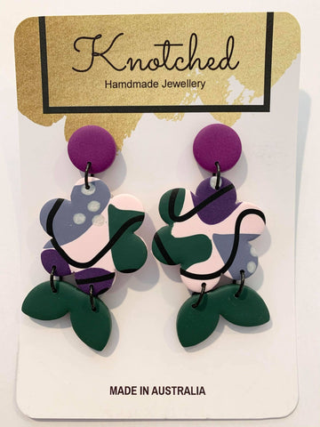 KNOTCHED HANDMADE EARRINGS - P