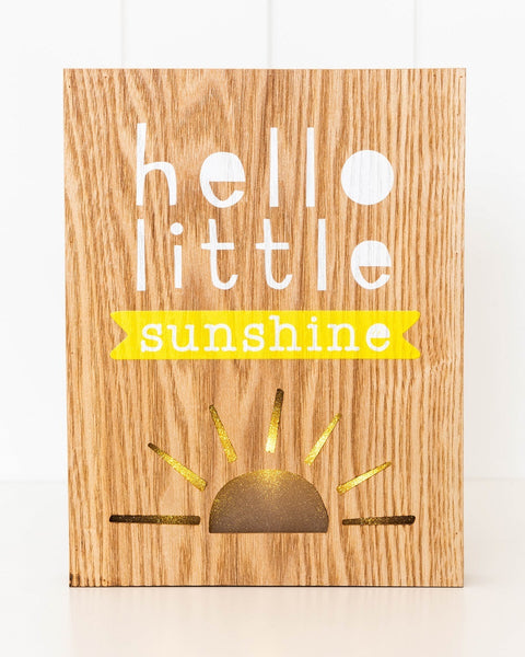 Hello Little Sunshine Night Light