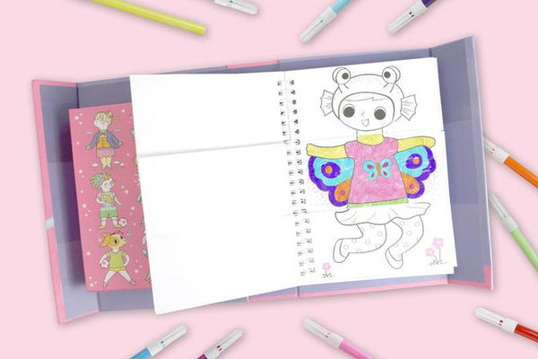 MASH UP COLOURING SET - DRESS UPS