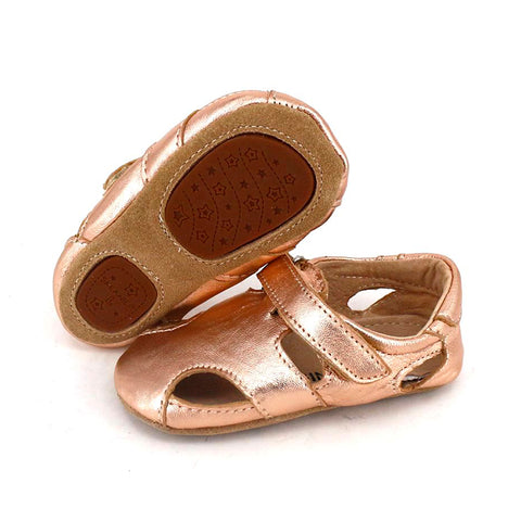 Pre-Walker Sunday Sandals Rose Gold