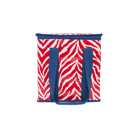RED ZEBRA INSULATED TOTE