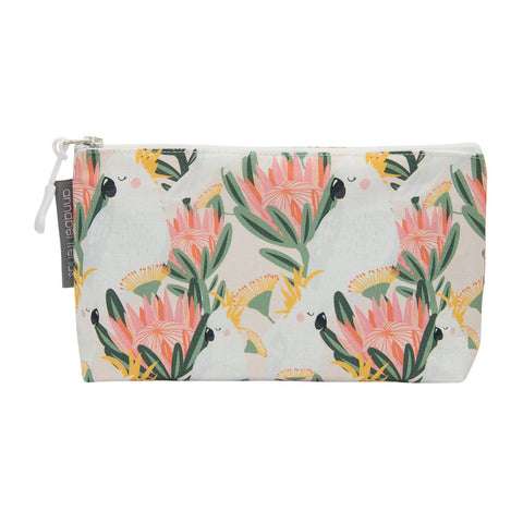COCKATOO PEACH COSMETIC BAG - SMALL