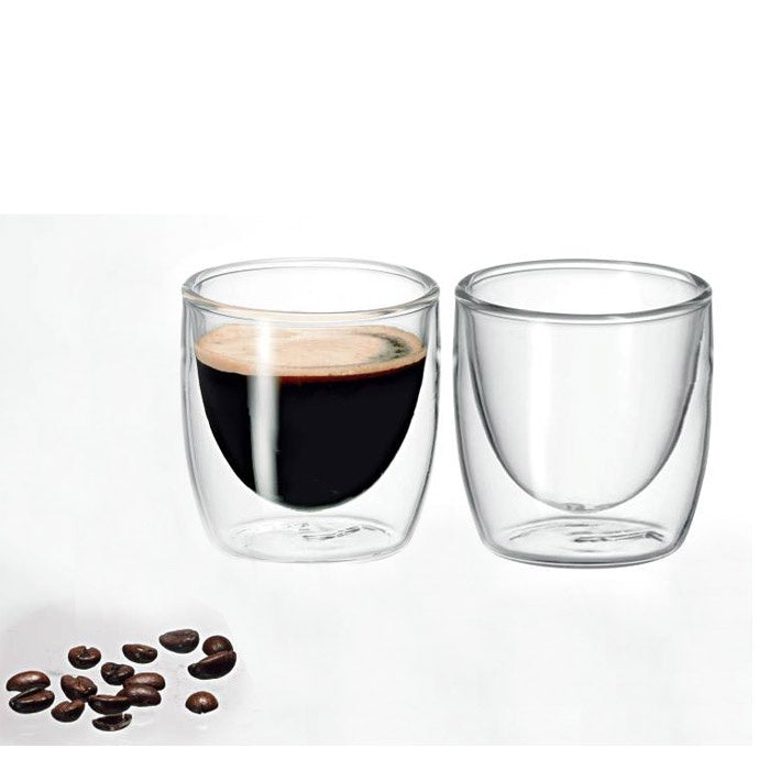 AVANTI CAFFE TWIN WALL GLASS SET 100ML