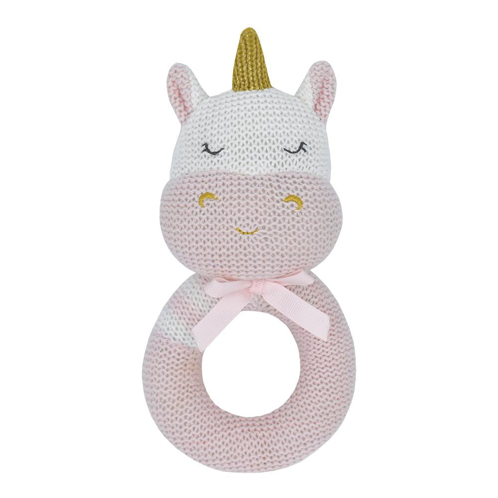 KENZIE THE UNICORN KNITTED RATTLE
