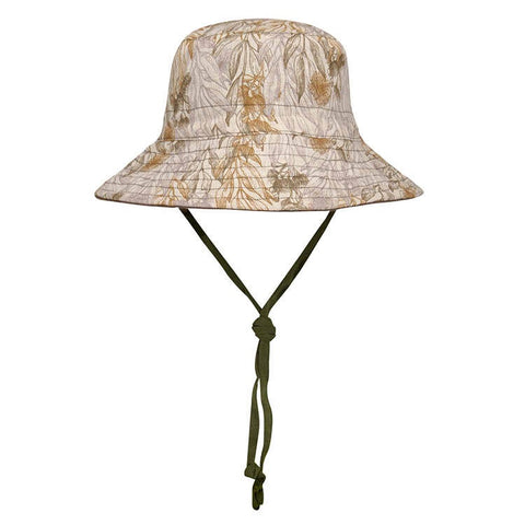 BEDHEAD REVERSIBLE SUN HAT - MALLEE / OLIVE 6-13 YR / 58-62CM / XL