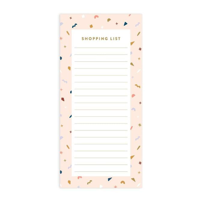 Confetti DL Magnet Shopping List Notepad