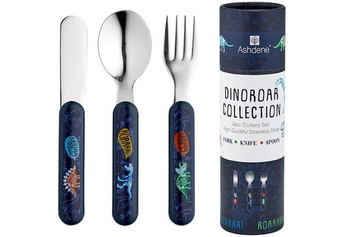 DINOROAR 3 PIECE CUTLERY SET