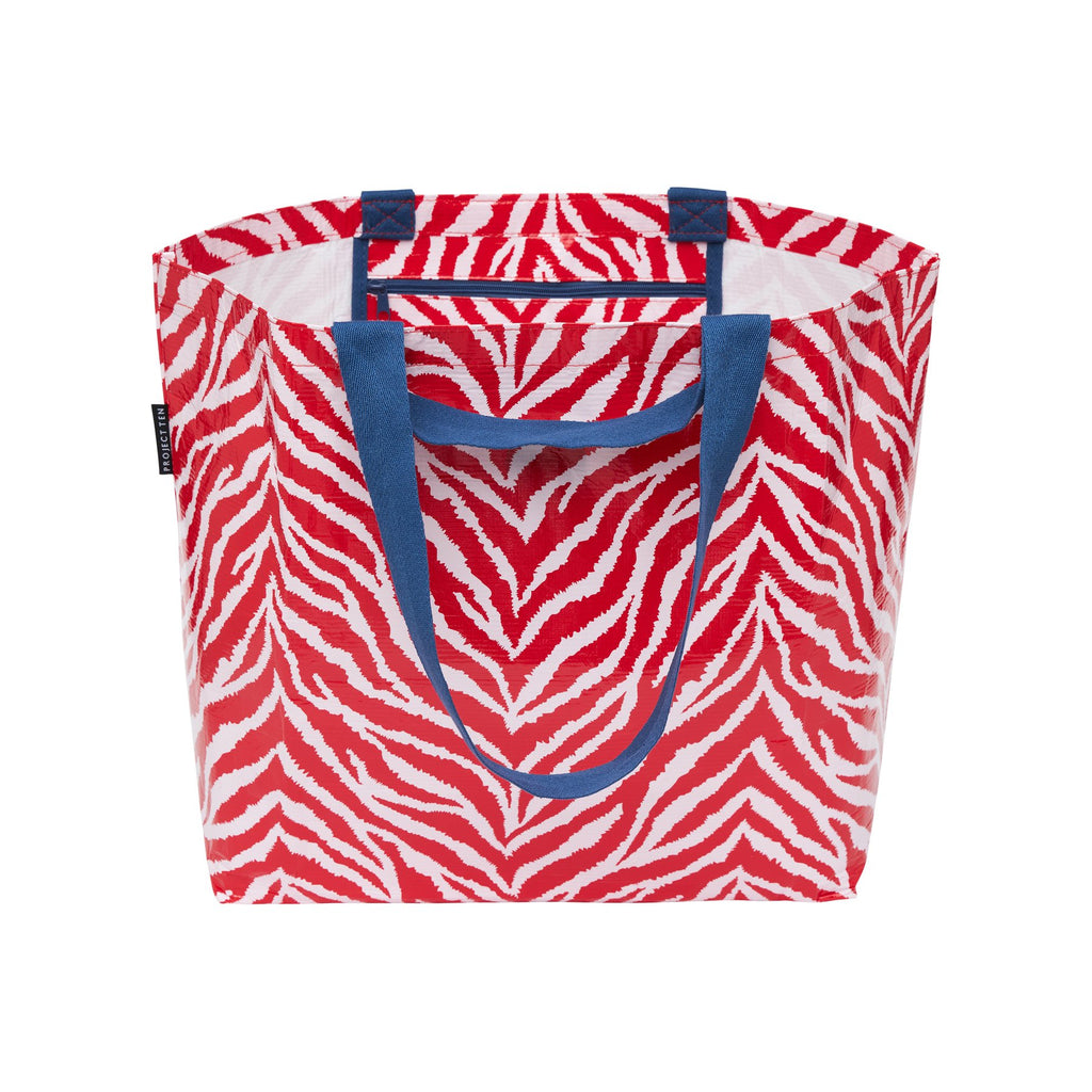 RED ZEBRA MEDIUM TOTE
