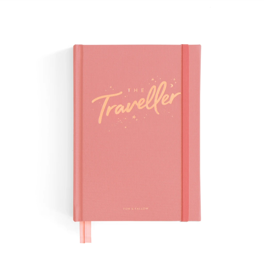 THE TRAVELLER MINI TRAVEL DIARY - DUSTY ROSE