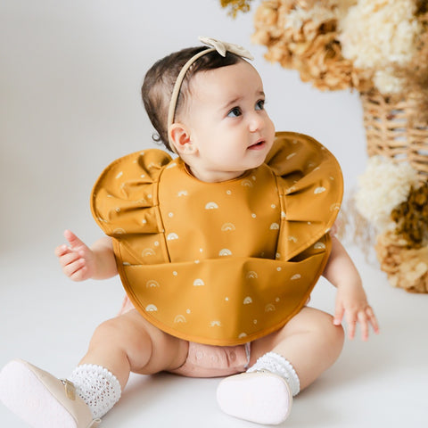 SNUGGLE BIB WATERPROOF SUNRISE FRILL